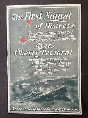 Antique 1898 Ad (1800-13)~Ayer's Cherry Pectoral For Cough's