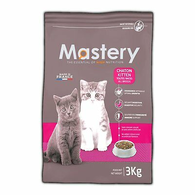 Mastery Cat Food Kitten, Dry Food for Kitten 3 Kg - Food Cats