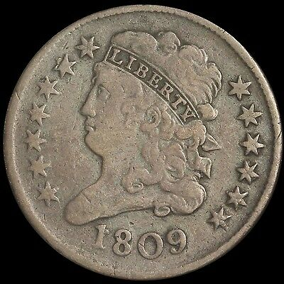 1809 Classic Head Half Cent - Free Shipping USA