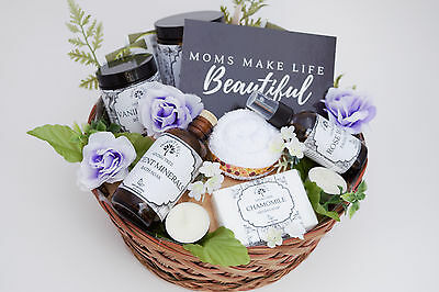Handcrafted Gift Basket For Mom or New Mom, All Natural & Organic