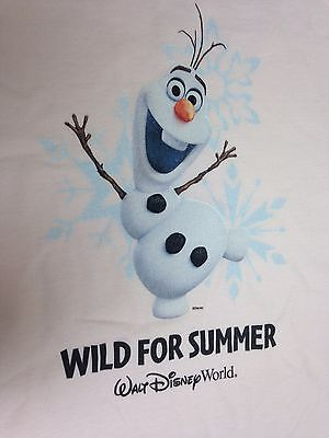 """7//8 Unisex 5//6 Disney Store Frozen Olaf T-Shirt /""""I/'M ALL OUT OF SHAPE/"""" BLUE"""