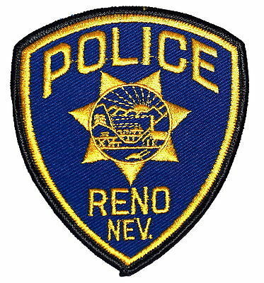 RENO NEVADA NV Police Sheriff Patch STATE SEAL SUNRISE MOUNTAINS ~