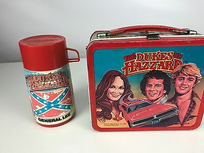 VINTAGE 1983 Dukes Of Hazzard Lunch Box With Thermos