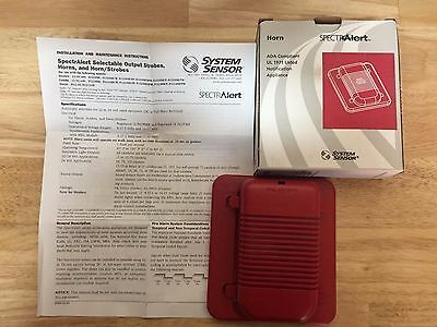 System Sensor H12/24 Selectable Output Horn Red (Sold In Lots Of 2)