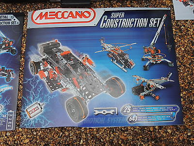 Meccano Super Construction Kit Set - 25 models, new