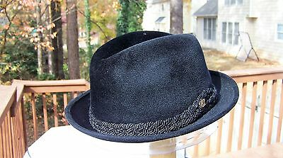 The Sovereign Stetson Fedora Hat  (7 1/8) Black