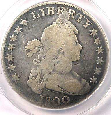 1800 Draped Bust Silver Dollar $1 - Certified ANACS G4 Details - Rare Coin!