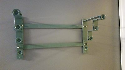 USED Nystrom 4 Map Stepped Hanger Mount Rack Pulldown Maps Classroom Homeschool