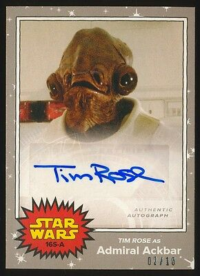 2017 Topps Star Wars On Demand May the 4th TIM ROSE Silver Autograph #2/10