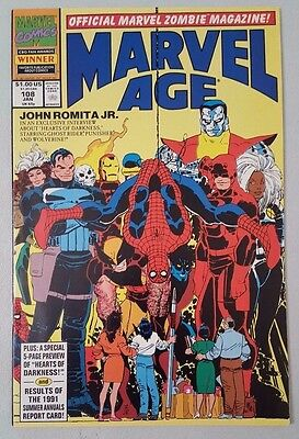 Marvel Age #108 1983 Series News Magazine Marvel Comics VF Flat Shipping