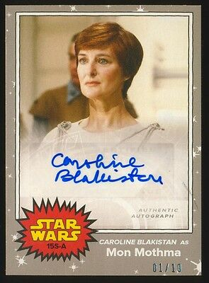 Topps Star Wars On Demand May the 4th CAROLINE BLAKISTAN Silver Autograph #1/10