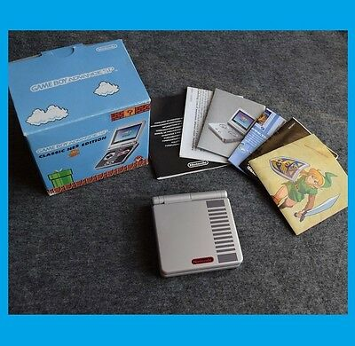 Game Boy Advance SP  NES Limited Edition BOXED MINT perfect condition !!!