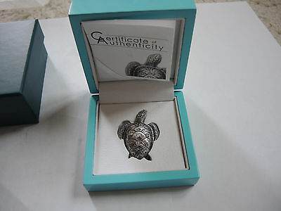 10 $ Palau 2017 Sea Turtle Meeresschildkröte 45 Gramm Silber Antique Finish