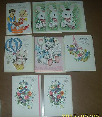 9-Vintage George S. Carrington Co. Mother's & Grandmother's Day Greeting Cards