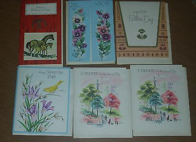 Lot of 6 Vintage George S. Carrington Co. Father's Day Greeting Cards