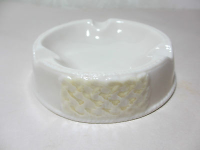 Vintage Irish Belleek Ashtray Use as Pin Tray or Soap Dish Translucent Porcelain