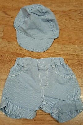 hat and shorts for baby boy