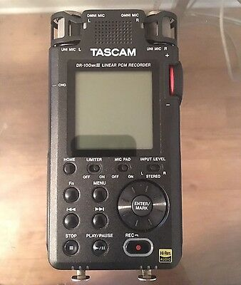Tascam DR-100MKIII 2-Ch Portable Digital Audio Recorder w. SDXC card and more!!!