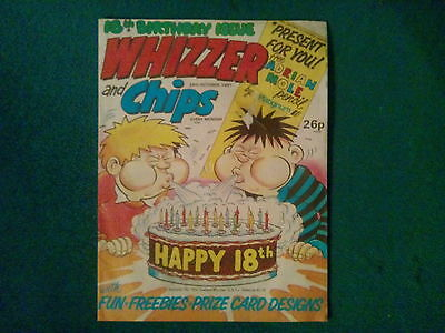 Whizzer And Chips Comic 18Th Birthday Issue 24Th October 1987