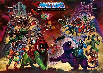 "He-Man ""Masters of the Universe"" POSTER 1984 Rare Large MOTU"