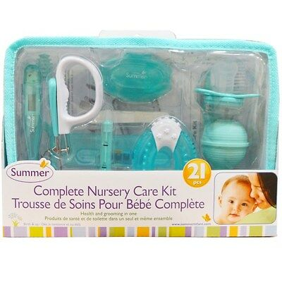 Baby Care Nursery Health/Grooming Kit 21 pieces Summer Infant UK FAST & FREE