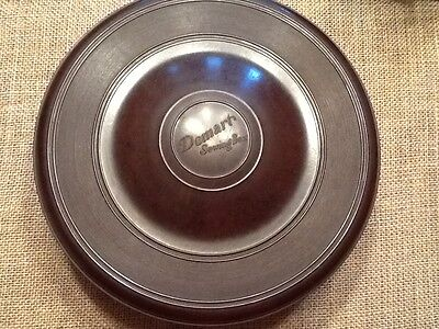 Domart Bakelite Sewing Box 1920's Round 3 Piece Rotating Storage Basket Vintage