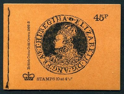 DS1 45p Booklet British Coins 3. Gold Crown ~ SEPTEMBER 1974