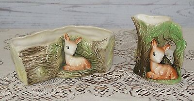 2 x Charming Collectable Vintage Eastgate Withersea  Fauna Vase & Jug Ornaments