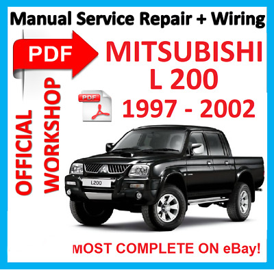 # OFFICIAL WORKSHOP MANUAL service repair MITSUBISHI L200 L 200 1997 - 2002