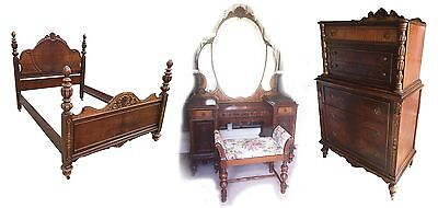 Antique 3 Piece Bedroom Set. From Late 1800's