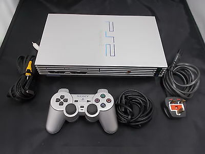 PS2 Playstation 2 Silver Pal Computer Console (10)