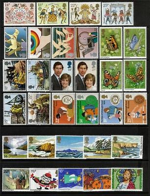 SG1143-1174 1981 GB COMMEMORATIVES YEAR SET Complete ~ 8 Sets  Unmounted Mint.
