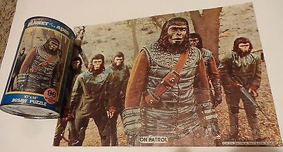 """Planet of the Apes Puzzle Can 96 Pieces 1967 10 x 14 HG TOYS """"On Patrol"""" TV"""