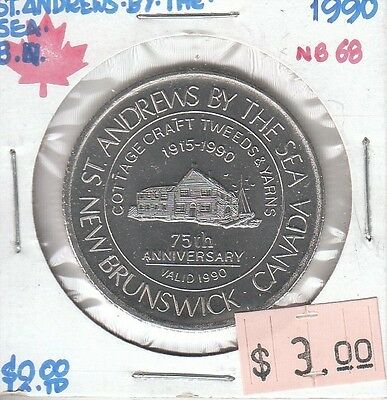 St. Andrews by the Sea New Brunswick Canada - Trade Dollar - 1990