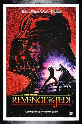 REVENGE OF THE JEDI CineMasterpieces 1983 STAR WARS ORIGINAL ROLLED MOVIE POSTER