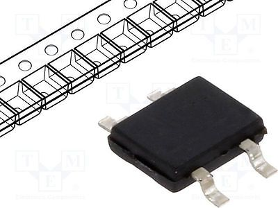 5 pcs Single phase rectifier bridge; Urmax:600V; If:0.5A; Ifsm:32A