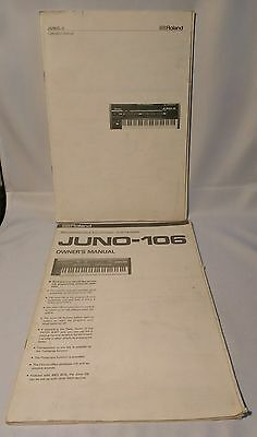 Original Roland Juno-106 Polyphonic Synthesizer Owner's & Operation Manual Lot