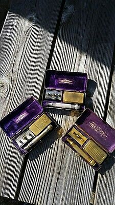 Gillette Razors Lot of 3 Old Type Ball End Pocket Sets