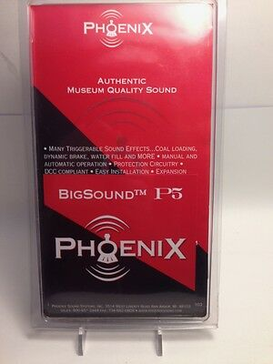 Phoenix Sound Systems Bigsound P5 Bachmann K-27 Steam Sound Board, G Scale
