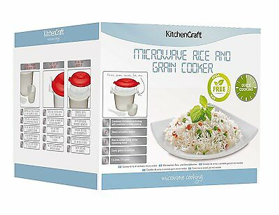 NEW Kitchen Craft Microwave 1.5 L Rice Cooker - Beige container, vented cover,