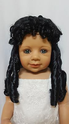 """NWT Monique Breanna Off Black Doll Wig 16-17"""" fits Masterpiece Doll(WIG ONLY)"""