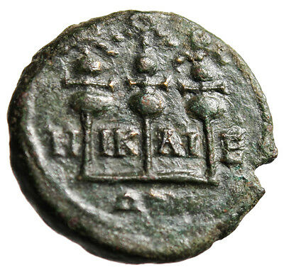 "Severus Alexander AE21 ""Three Standards"" Bithynia Nicaea Mint 222-235 AD"
