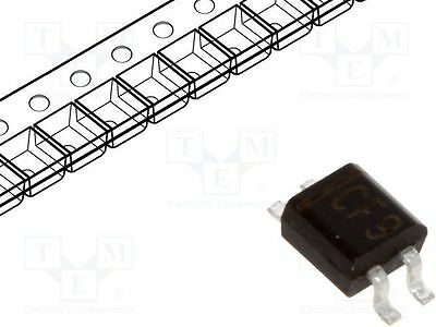 5 pcs Single phase rectifier bridge; Urmax:80V; If:0.5A; Ifsm:20A