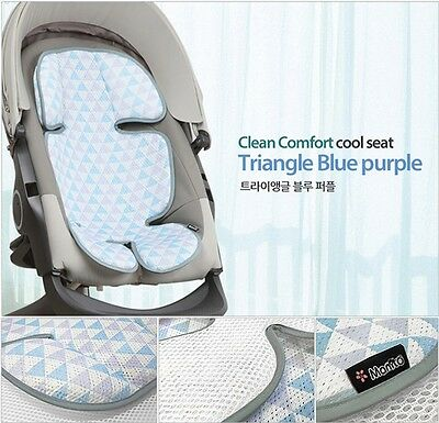 New Baby Toddle 3D Mesh Cool Matt Car Seat Summer Pad Stroller Prickly Heat Blue