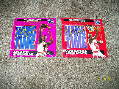 "Lot Of 2----- Michael Jordan ""hangtime"" Bubble Gum Packs 'unopened Packs'"