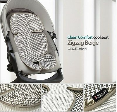 Baby Toddle 3D Mesh Cool Matt Car Seat Summer Pad Stroller Prickly Heat Beige