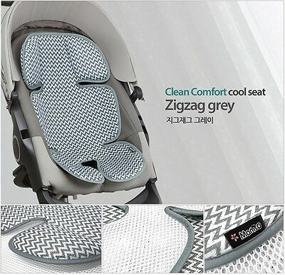 New Baby Toddle 3D Mesh Cool Matt Car Seat Summer Pad Stroller Prickly Heat Gray