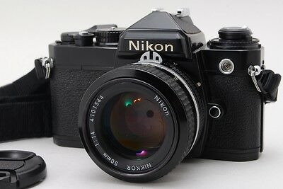 EXC++++ Nikon FE 35mm SLR Film Camera Black w/ Ai 50mm f1.4 lens from Japan #535