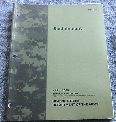 Dept Of The Army - Sustainment - FM 4-0 - 2009