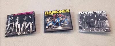 "Ramones 1.5"" Button Set Lot 3 pins Rocket To Russia Road To Ruin Punk Rock"